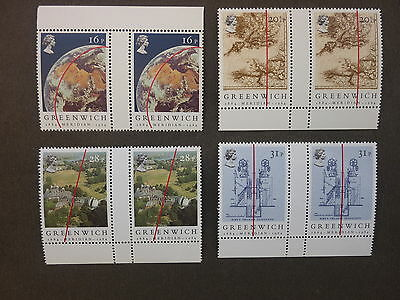 British Stamps NH  Centenary of Greenwich Meridian