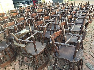 X 10 - Quality Restaurant Chairs Old Vintage Pub Bar Chair