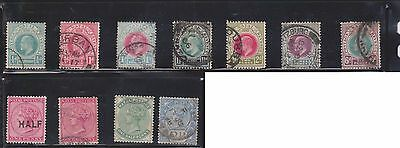 (U4-15) 1874-1902 Natal mix of 11stamps ½d to 6d