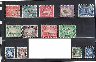(U4-1) 1937-53 Aden mix of 38stamps ½A to 1R, 1/-to 2/- &5c to70c