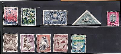 (U4-19) 1960 South West Africa mix of 37stamps ½d to 1/-