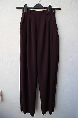 vintage trousers Betty Jackson high waisted 40s style wide leg size 8 100% wool