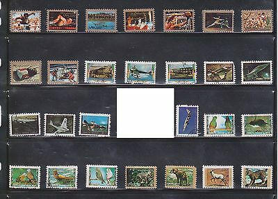 (U1-3) 1970 AJMAN mix of 90stamps 1np to 100p (A)