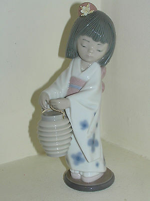 Lladro Young Japanese Girl Oriental Lantern  #6231 Figurine So Cute Beautiful
