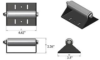 RV SLIDE OUT Roller with Mounting Bracket Roller 4 1/4