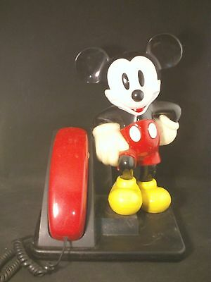 AT&T Trimline Push Button Mickey Mouse Desktop Corded Telephone 1990's Disney