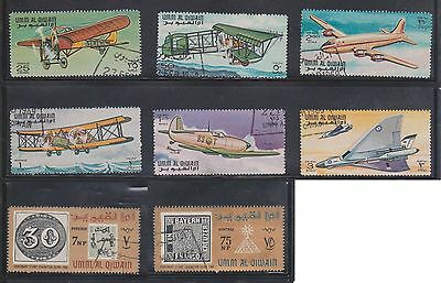 (U3-20) 1970's QIWAN mix of 39stamps 1d to 5R (A)