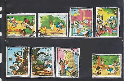 (U3-30) 1970 SHARJAH mix of 21stamps15 Disney stamps& 6fish stamps 25d to 3R (D)