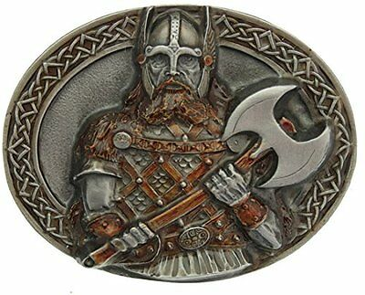 Viking Belt Buckle In a Gift Box + Display Stand .