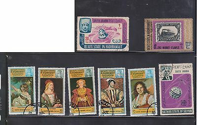 (U4-40) 1960-70 South Arabia mix of 17stamps 5F to 50F