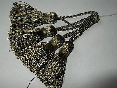 4 Green Coloured Tassels