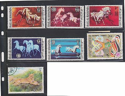 (U3-25) 1970 RASALKHAIMA mix of 31stamps 2d to 3R (A)