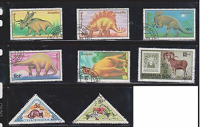 (U3-6) 1959-70 Mongolia mix of 36stamps 5M to 50M (A)