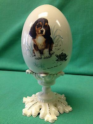 Monica Heller Cole Dog with Turtle on Egg and Stand