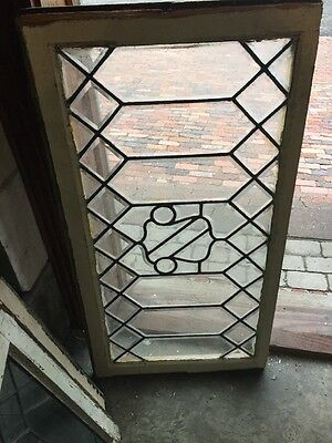 Sg 1135 Antique All Beveled Glass Geometric Beveled Transom Window
