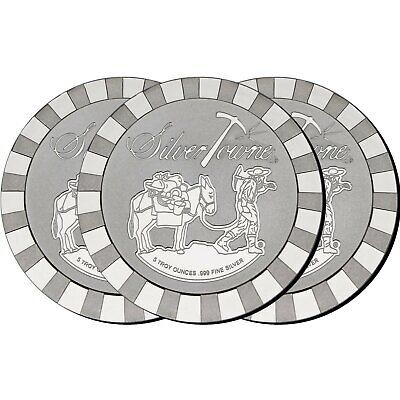 SilverTowne Stackables Trademark Prospector 5oz .999 Silver Medallion (3pc)