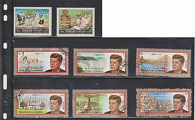 (U3-28) 1970 SHARJAH mix of 17stamps 1d to 3R (B)