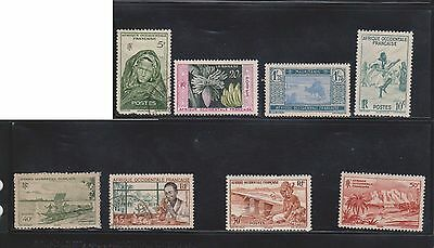 (U4-20) 1950-60 French east Africa mix of 8stamps 10c to 5F