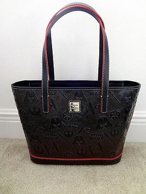 New Disney Star Wars Dooney & Bourke 2016 Black Leather Shopper Tote SOLD OUT