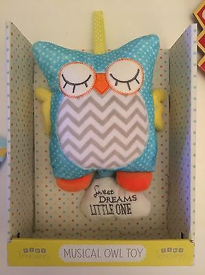 baby pacifier comforter mobile musical owl toy