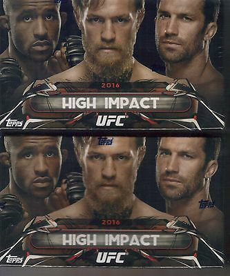 72) 2016 Topps High Impact UFC 1 Auto Per Box Rousey McGregor? Lot 3 Sealed Case