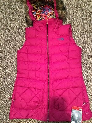 Nwt North Face Nitchie Down Plum Purple Pink Womens Medium Hooded Vest $199