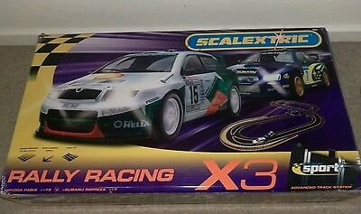 scalextric Rally set plus extra track and cars