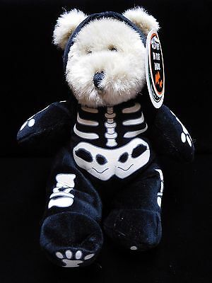 1999 STARBUCKS Collectible Plush HALLOWEEN Bear with Tags GLOWS IN DARK