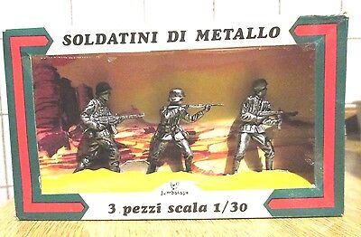 Jumbo Toys - set con 3 soldatini TEDESCHI in metallo scala 1/30 made in Italy