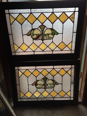 Sg 1141 2Available Price To Each Antique Textured And Stain Glass Transom Window