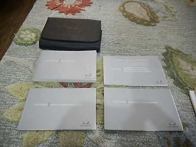 2013 Infiniti Ex Ex35 Ex37 Owners Manual Set + Free Shipping