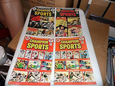 Champion Sports #1 #2 #3 Complete series plus an extra #1 !  Photos included!