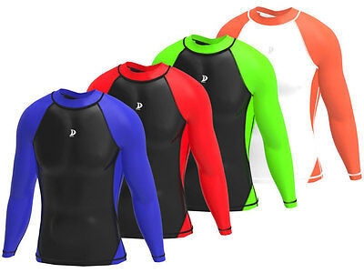 Mens Compression Base Layer Full Sleeve Top Long Sleeve Skin Fit Gym Sport Shirt
