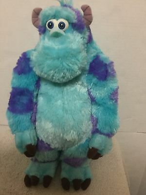 """Sully Plush Disney Store Pixar Teal Monsters Inc Sulley Stuffed Animal Toy 15"""" T"""