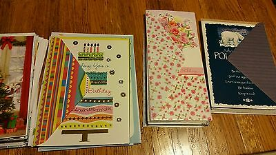 Mixed lot of 86 assorted greeting cards
