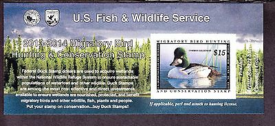 US RW80a $15 2013-14 Federal Duck Stamp Self Adhesive NH SCV $22.50