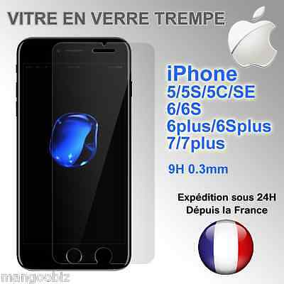 ★★VITRE PROTECTION FILM PROTECTEUR ECRAN VERRE TREMPE★★ iPhone 7/6/6S/Plus/5/SE