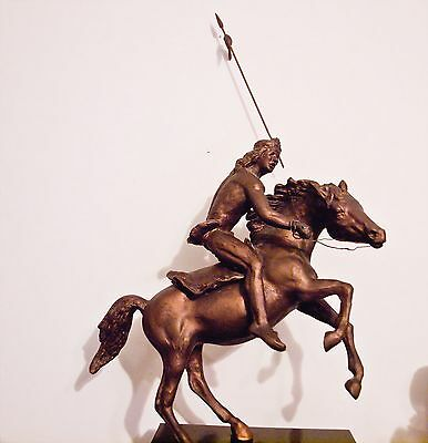 Sculpture Bronze Horse w/ Rider Outstanding Collectible Excellent Condition  Art