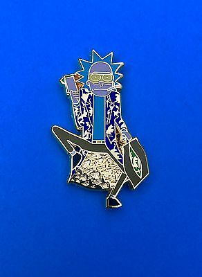 LE Hunter S Thompson Rick and Morty Figurine Pin - Blue On Blue Shirt Edition