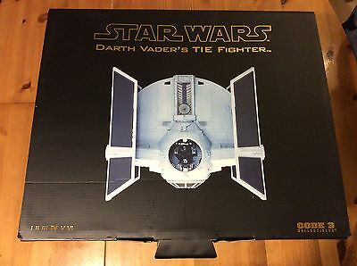Code 3 Collectibles Star Wars Darth Vader's TIE Fighter. Boxed