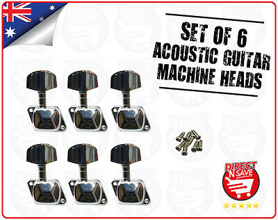 Guitar Machine Head Tuning Pegs 3 Left 3 Right Acoustic Guitar Set Of 6 NEW