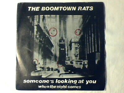 "THE BOOMTOWN RATS Someone's looking at you 7"" ITALY BOB GELDOF LIKE NEW!!!"
