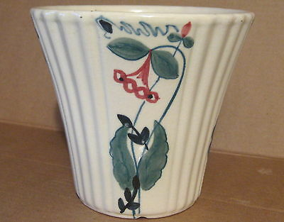 Vintage ABINGDON POTTERY No.152 VASE / FLOWER POT with HAND-PAINTED FLOWERS