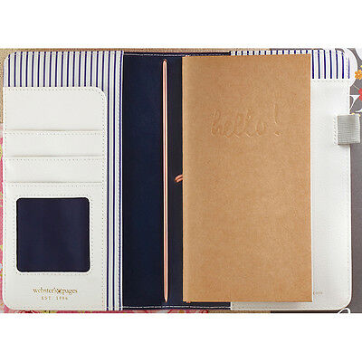 """Color Crush Faux Leather Travelers' Planner 5.75""""X8""""-Fuchsia TJ001-F"""
