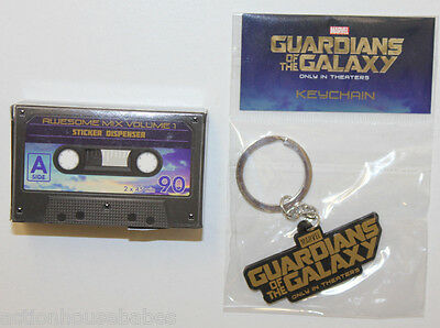 GUARDIANS of the GALAXY - Movie PROMO Key Chain & Sticker Cassette - NEW