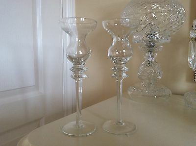 A Pair Of Crystal Vintage Candlestick Of Superb Quality