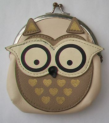 Vintage Owl Clasp Fastening Coin Purse