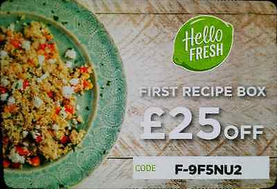 HelloFresh £25 Off First Meal on Hello Fresh