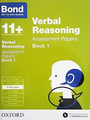 Bond 11+: Verbal Reasoning Assessment Papers: BK 1 [9-10 Years] NEW - RRP £7.99