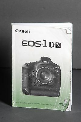 Canon EOS 1DX Camera Instruction Book / Manual / User Guide